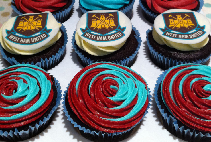 West Ham Icing Cake Toppers
