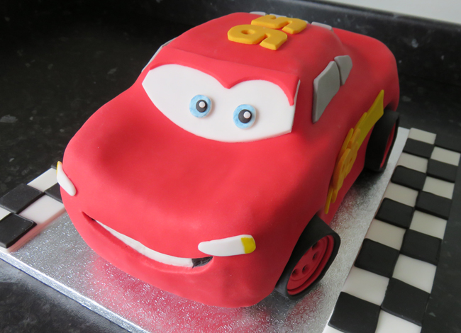 The finished Lightning McQueen