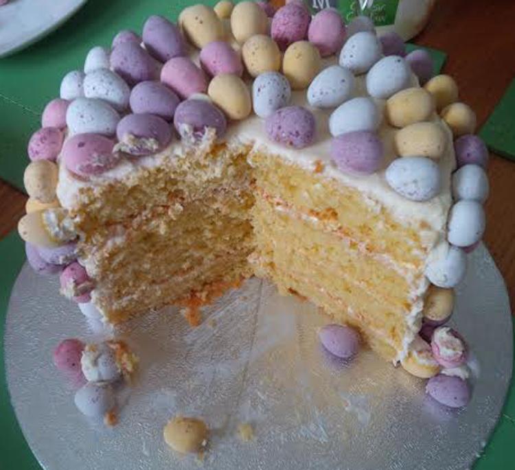 Easter cake cut - victoria-sponge BLOG