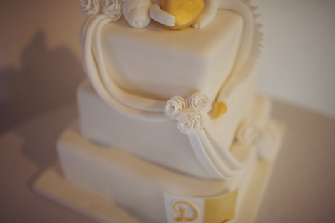 The three tiered wedding cake, photography by Rebecca Douglas