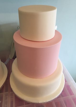 My covered, stacked cake