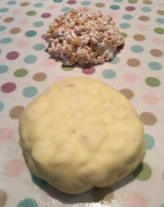 The rice crispie treat 'burger' - stages 1 and 2!