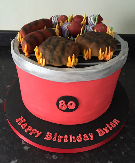 The finished BBQ cake