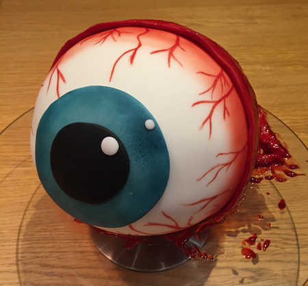 The eyeball cake